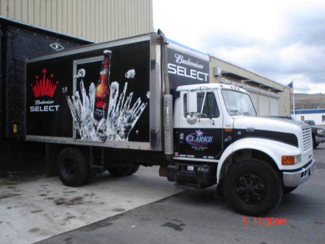 Johnsons lettering big companies with big fleets of for Big truck lettering